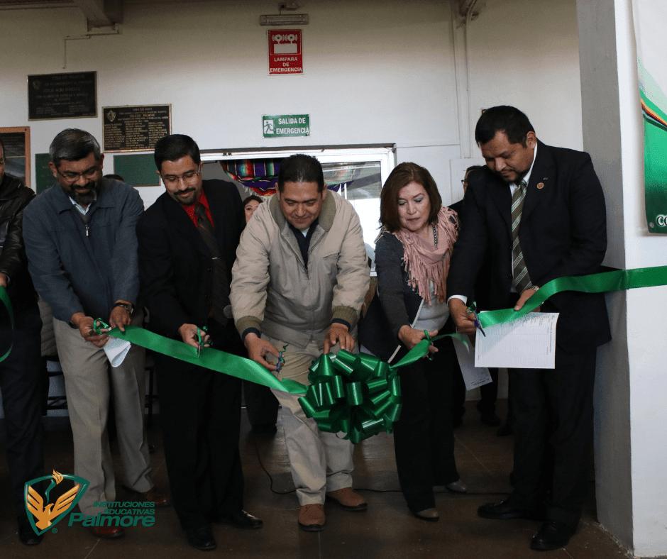 Inaugura Encargado del Microscopio de Ultra Alta Resolución del CIMAV,  la 9ª Expo Ciencia de Secundaria Palmore.