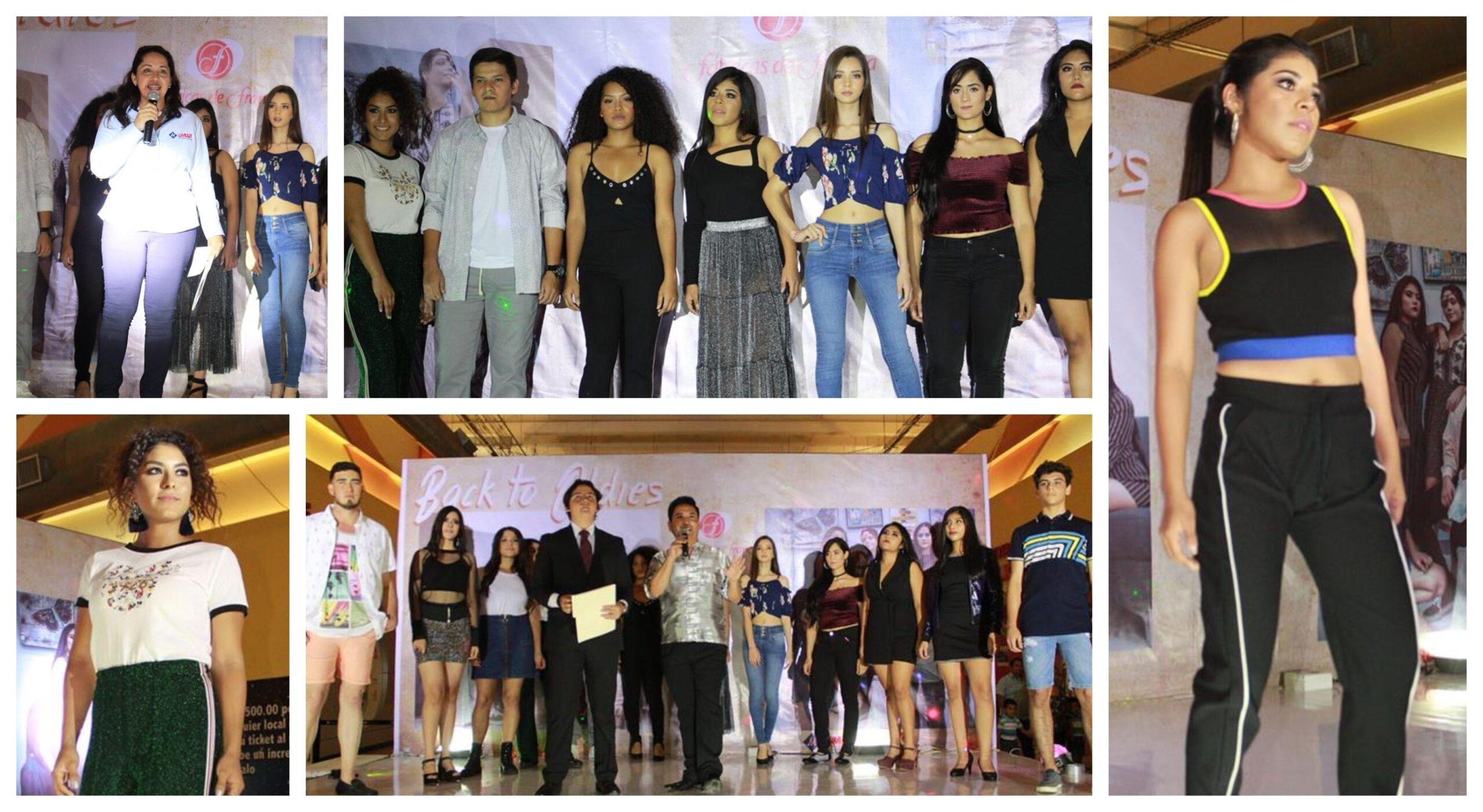 """Alumnos de Imagen y Relaciones Públicas organizan """"Pasarela Retro"""" en Multiplaza Tuxtepec"""