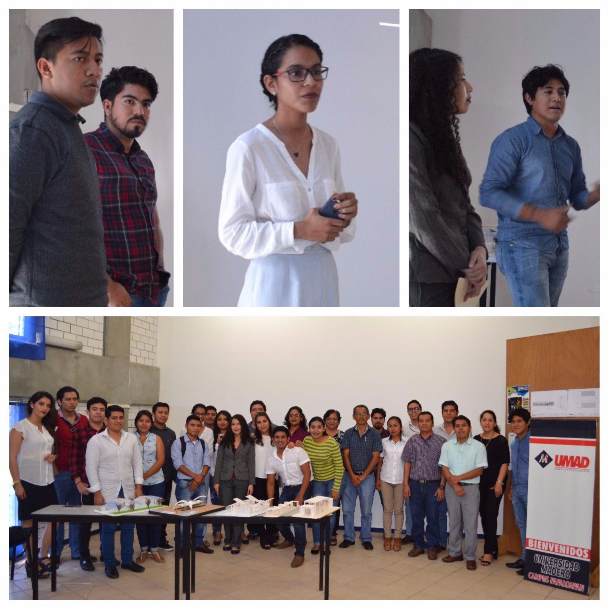 Alumnos de Arquitectura de UMAD Papaloapan desarrollan proyectos para edificar un Pabellón de lectura en el Parque central de Tuxtepec