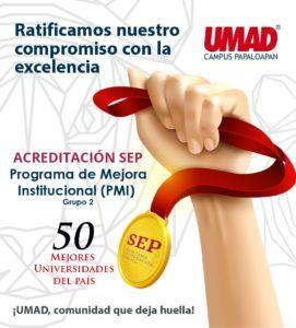 UMAD Papaloapan, de las 50 Mejores Universidades del País