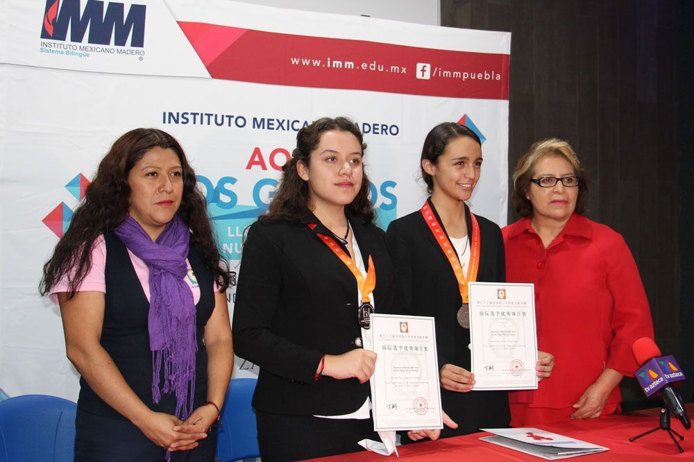 Alumnas IMM ganan 2do Lugar en Concurso de Ciencias en China